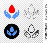 blood care hands eps vector...   Shutterstock .eps vector #1194607447