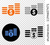 dollar coin stacks eps vector...   Shutterstock .eps vector #1194607471