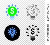 dollar light bulb eps vector...   Shutterstock .eps vector #1194607477