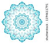 beautiful round flower mandala. ... | Shutterstock .eps vector #1194611791