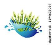 asparagus healthy natural... | Shutterstock .eps vector #1194639034
