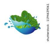mustard lettuce healthy... | Shutterstock .eps vector #1194639061