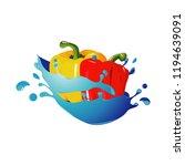 paprika healthy natural... | Shutterstock .eps vector #1194639091