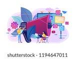 marketing team work and huge... | Shutterstock .eps vector #1194647011