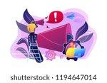 businessman talk in megaphone... | Shutterstock .eps vector #1194647014