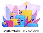 business people work and climb... | Shutterstock .eps vector #1194647041