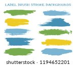 minimal label brush stroke... | Shutterstock .eps vector #1194652201