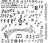 big black music notes...   Shutterstock .eps vector #1194655624