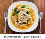 rad na thai food  thai noodles... | Shutterstock . vector #1194656467