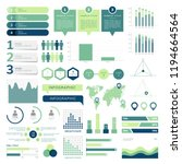 set of business infograph... | Shutterstock .eps vector #1194664564