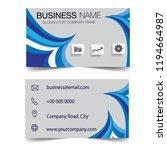 blue wave creative business... | Shutterstock .eps vector #1194664987
