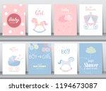 set of baby shower invitation... | Shutterstock .eps vector #1194673087