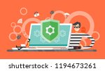 hacking concept. thief hacker... | Shutterstock .eps vector #1194673261