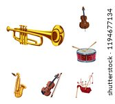vector design of music and tune ... | Shutterstock .eps vector #1194677134