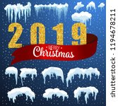 snow ice icicle set winter... | Shutterstock .eps vector #1194678211