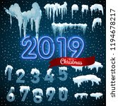 snow ice icicle set winter... | Shutterstock .eps vector #1194678217