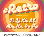 vector retro alphabet design.... | Shutterstock .eps vector #1194681334