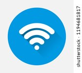 wifi vector icon on blue...