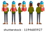 vector illustration of men with ... | Shutterstock .eps vector #1194685927