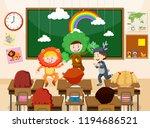 children performing infront of...   Shutterstock .eps vector #1194686521