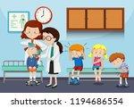 doctors helping injured... | Shutterstock .eps vector #1194686554
