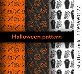 halloween seamless pattern   Shutterstock .eps vector #1194690127