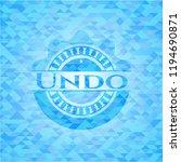 undo light blue emblem with...   Shutterstock .eps vector #1194690871