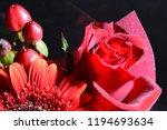 red flowers bouquet | Shutterstock . vector #1194693634