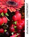red flowers bouquet | Shutterstock . vector #1194693637