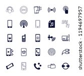 vector filled and outline icons ... | Shutterstock .eps vector #1194697957