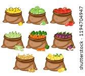 cartoon illustration set of 8... | Shutterstock .eps vector #1194704947