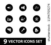 vector filled icons such as... | Shutterstock .eps vector #1194705274