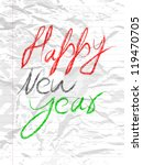 happy new year. eps 10. | Shutterstock .eps vector #119470705
