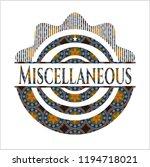 miscellaneous arabesque style... | Shutterstock .eps vector #1194718021