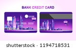 credit bank cards for... | Shutterstock .eps vector #1194718531
