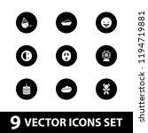 joy icon. collection of 9 joy... | Shutterstock .eps vector #1194719881