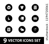 domestic icon. collection of 9... | Shutterstock .eps vector #1194720061