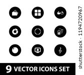 3d icon. collection of 9 3d... | Shutterstock .eps vector #1194720967