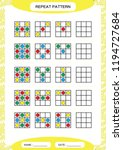 repeat pattern. square with... | Shutterstock .eps vector #1194727684