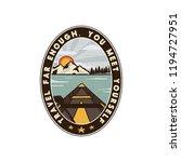 wanderlust logo emblem. vintage ... | Shutterstock .eps vector #1194727951