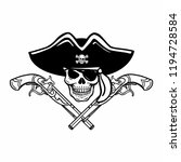 wicked hand drawn vector pirate ...   Shutterstock .eps vector #1194728584