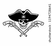 wicked hand drawn vector pirate ...   Shutterstock .eps vector #1194728641