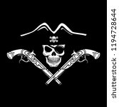 wicked hand drawn vector pirate ...   Shutterstock .eps vector #1194728644