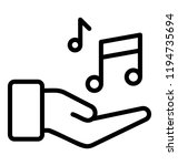 musician symbol depiction via... | Shutterstock .eps vector #1194735694