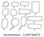 vector bubbles speech doodle... | Shutterstock .eps vector #1194736471