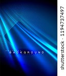 neon glowing wave  magic energy ... | Shutterstock .eps vector #1194737497