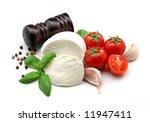 mozzarella  tomatoes  basil and ... | Shutterstock . vector #11947411