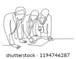 continuous line art or one line ... | Shutterstock .eps vector #1194746287