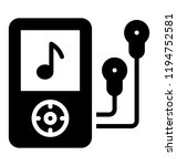 a music player  mp3 or ipod | Shutterstock .eps vector #1194752581