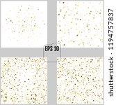 gold stars. confetti... | Shutterstock .eps vector #1194757837
